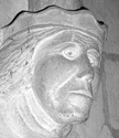 Greyscale Picture of Stone Figurehead