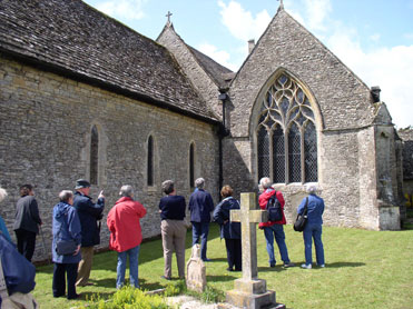 Members of the July 2009 three–day tour at St. Bartholomew's parish church, Ducklington.